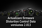 Actualizare firmware Distortion Control Data versiunea  2.013
