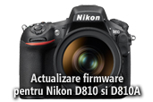 Actualizare firmware pentru Nikon D810 si Nikon D810A
