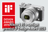 Aparatul foto Nikon 1 J5 a castigat premiul IF Design Award 2016