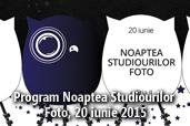 Program Noaptea Studiourilor Foto, 20 iunie 2015