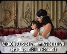 NIKKOR AF-S 24-70mm f/2.8E ED VR este disponibil in Romania