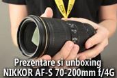 Unboxing si prezentare NIKKOR AF-S 70-200mm f/4G ED VR