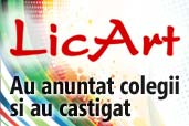 Au anuntat colegii despre LicArt si au castigat