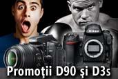 Promotii pentru Nikon D90 si Nikon D3S