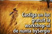 Castiga un loc gratuit la workshop-ul de nunta bySergio, 13-14 mai Bucuresti