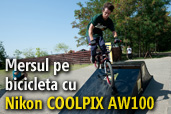 Mersul pe bicicleta cu Nikon COOLPIX AW100