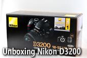 Unboxing Nikon D3200