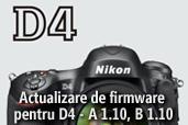 Actualizare de firmware pentru D4 - A 1.10, B 1.10