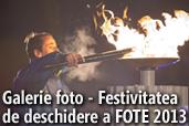Galerie foto - Festivitatea de deschidere a FOTE 2013 si antrenamentul echipei de hochei a Romaniei