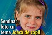 LIVE: Seminar foto cu tema Joaca de copii