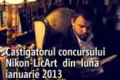 Castigatorul concursului Nikon-LicArt din luna ianuarie 2013