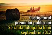 Se cauta fotografia lunii septembrie 2012 - Castigatorul premiului publicului