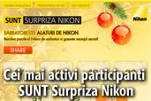 Cei mai activi participanti SUNT Surpriza Nikon