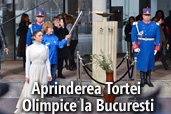 Aprinderea Tortei Olimpice la Bucuresti - Galerie foto
